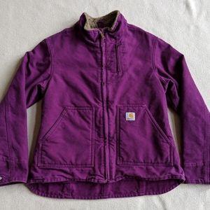 Carhartt SHERPA Lined PURPLE Jacket M
